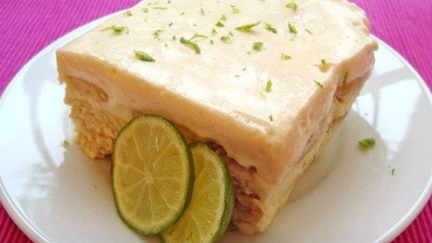 Pastel de galletas Marias y limon