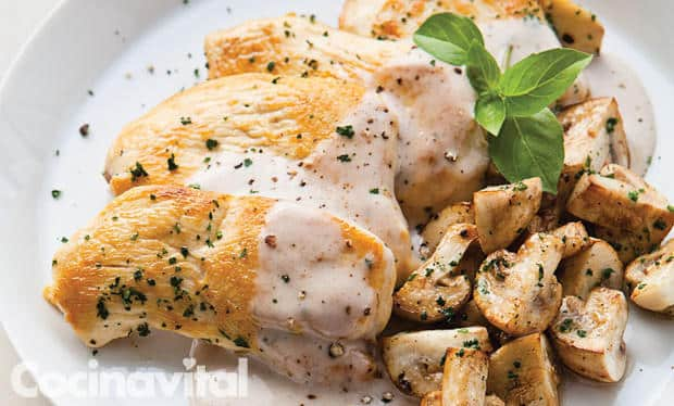 receta pollo a la crema