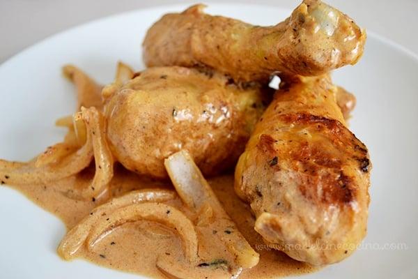 receta pollo crema