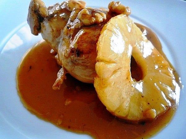 receta pollo con piña exquisito