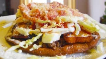 Receta Enchiladas Hondureñas con queso parmesano