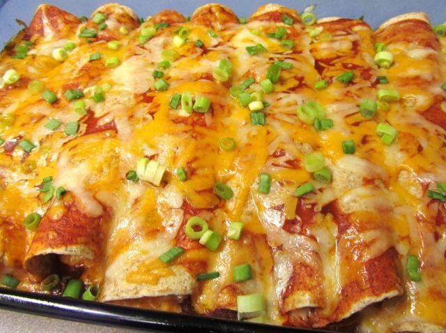 Receta de Enchiladas de Pollo Enchiladas de pollo con queso gratinado
