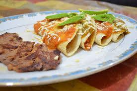 Receta de Enchiladas Huastecas con carne