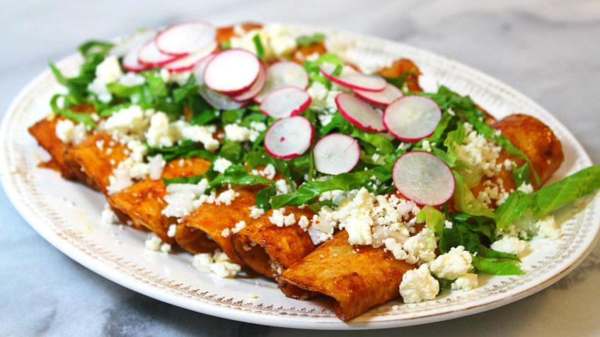 Receta de enchiladas rojas paso a paso for Tipos de encielados