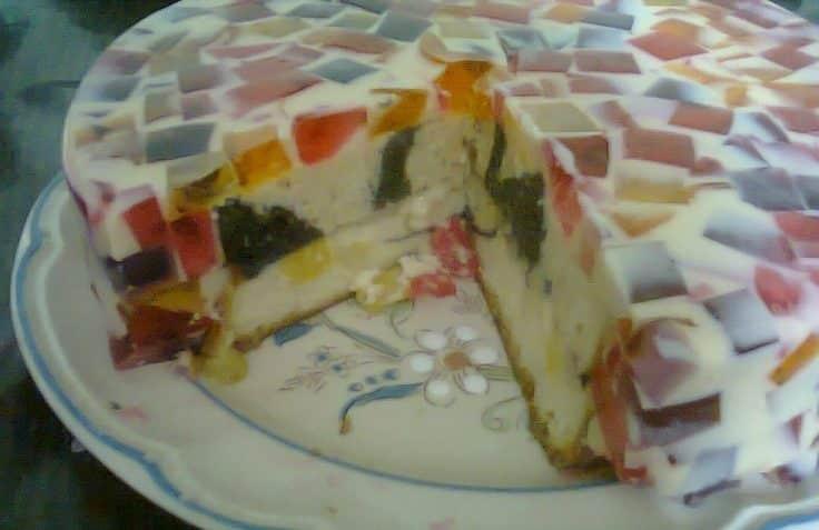 Receta de pastel de gelatina