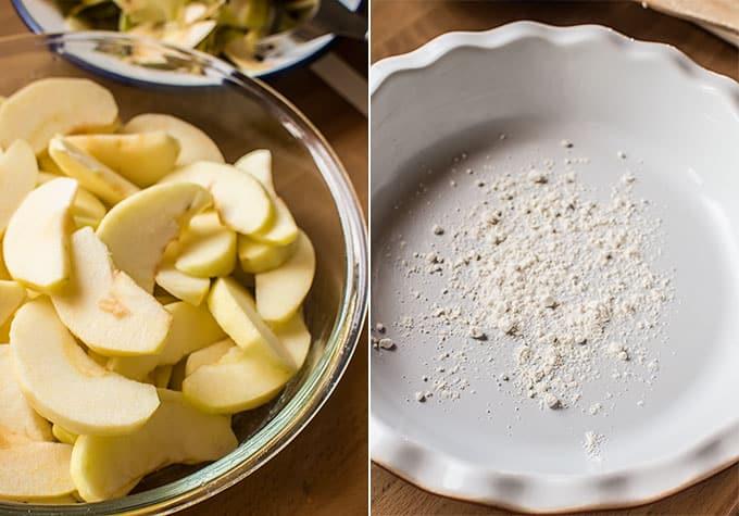 Receta de pastel de Trozos de manzana