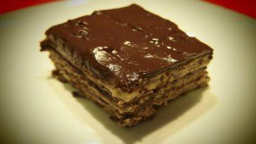 Receta de pastel de galleta