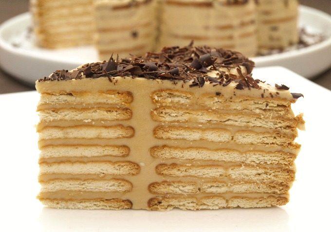 Receta de pastel de galleta estila selva negra