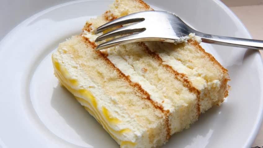 Receta de pastel de vainilla con crema pastelera