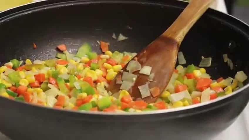 Receta de arroz con pollo sofrito de aliños