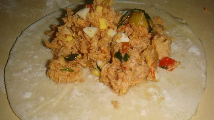 Receta de empanadas de pollo armado
