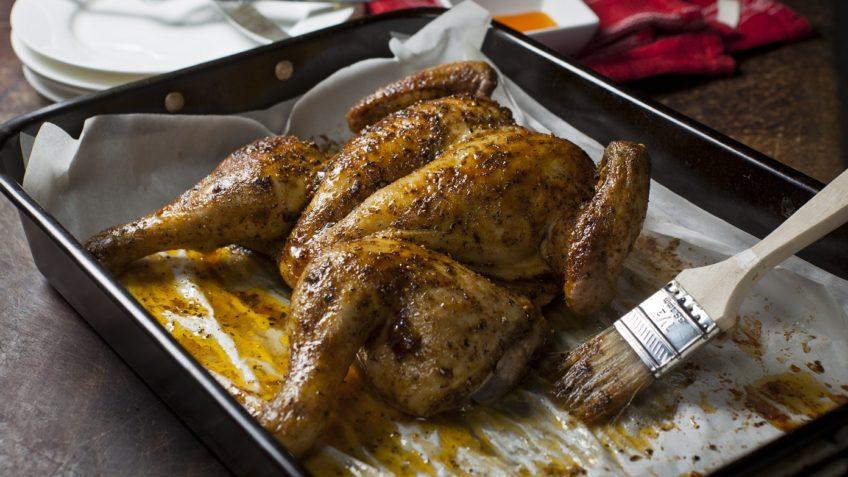 Receta de pollo asado al horno.