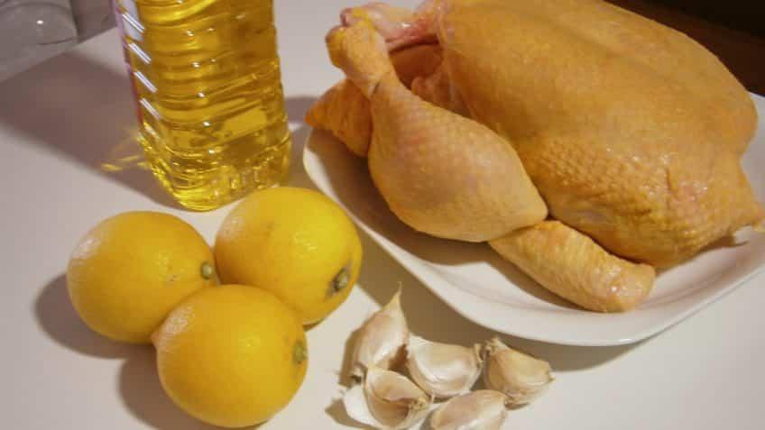 Receta de pollo asado asado ingredientes