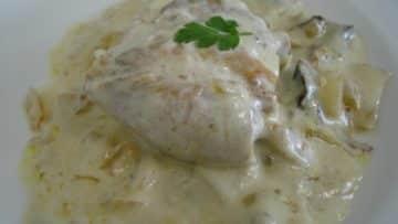 Receta de pollo en crema