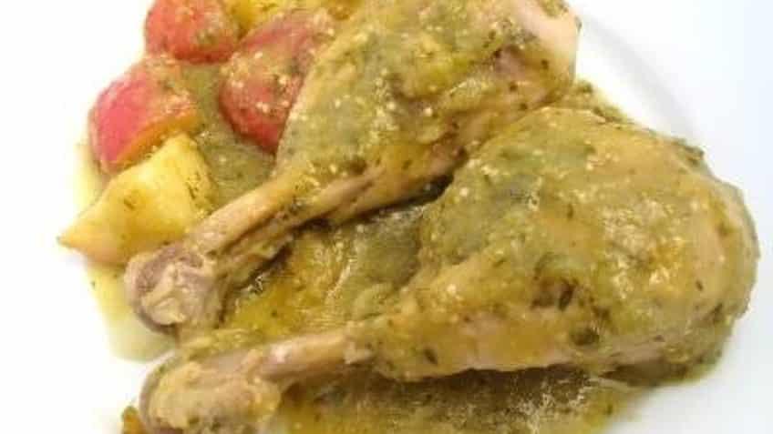 Receta de pollo en salsa verde