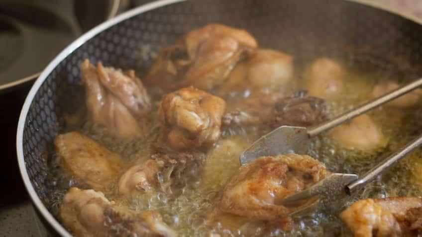 Receta de pollo ajillo freir en aceite hasta dorar
