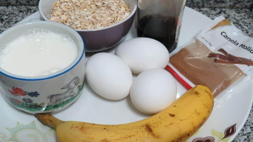 Receta de hotcakes de avena Ingredientes