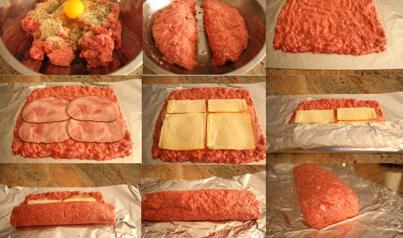 Receta de rollo de carne Preparacion