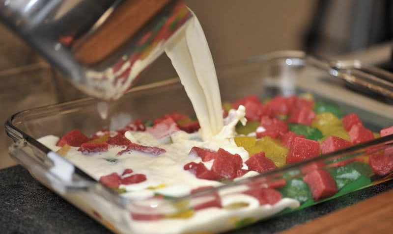 Receta de la gelatina de mosaico Preparacion paso 7