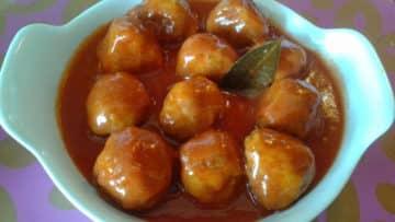 Receta de albóndigas en salsa2