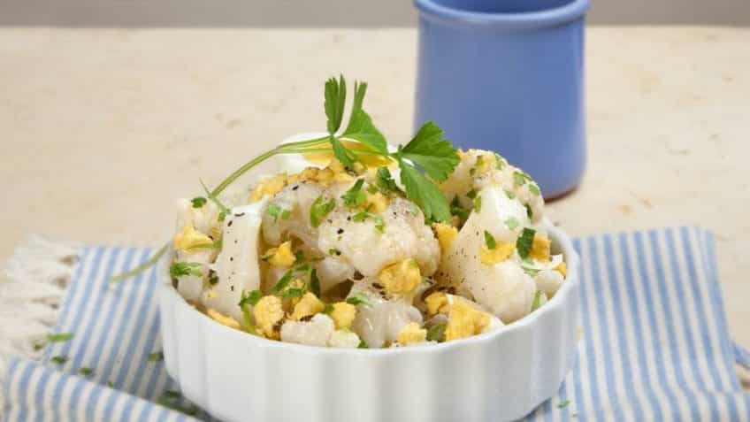 receta de coliflor con huevo