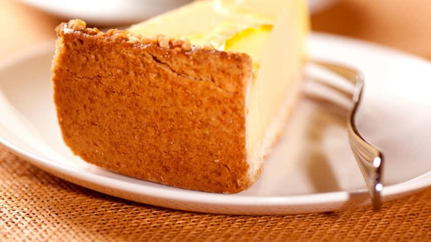 Delicioso trozo de tarta sin gluten
