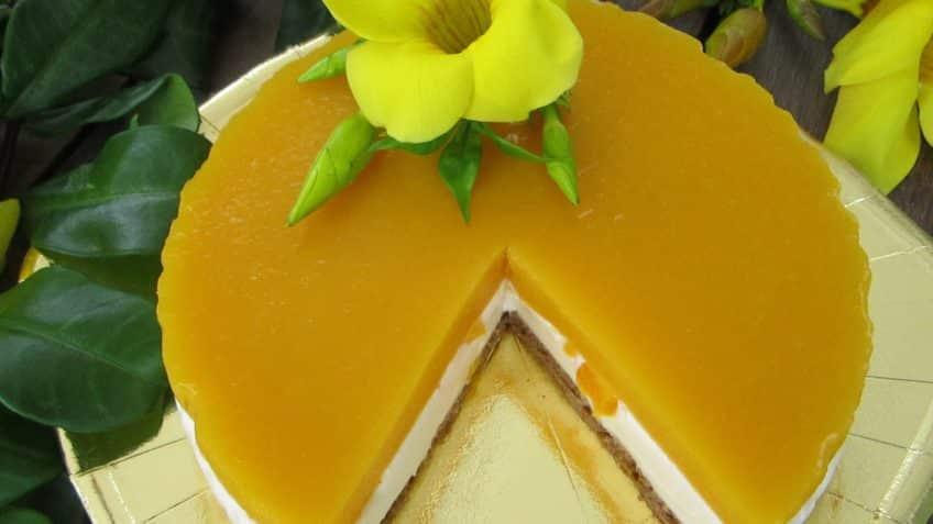 Hermosa tarta de mango