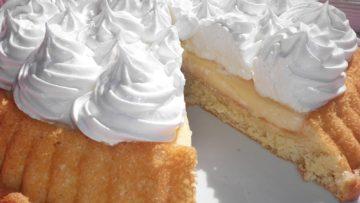 Receta de tarta con crema pastelera