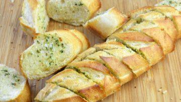 Delicioso pan con ajo