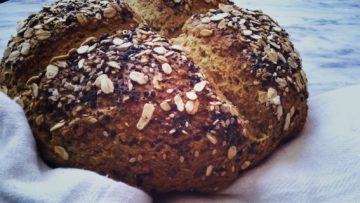 pan rustico con avena