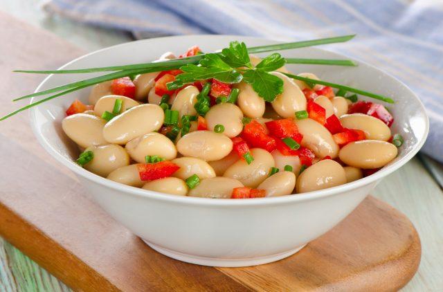 Alubias con verduras sin caldo