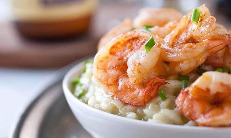 receta de risotto de camaron