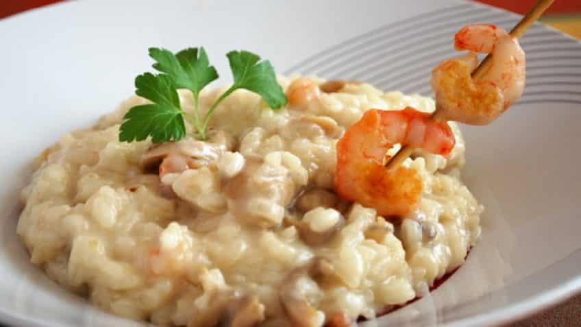 receta de risotto de gambas