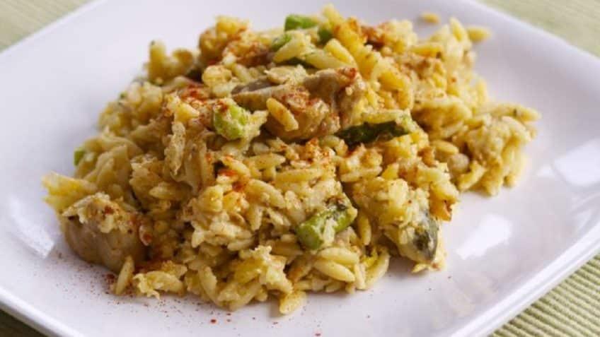 receta del risotto de pollo