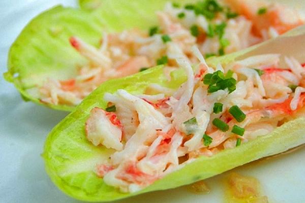 cómo hacer ensalada de cangrejo