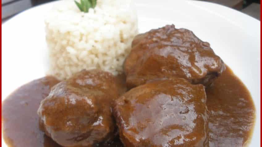 carrilleras de cerdo con arroz