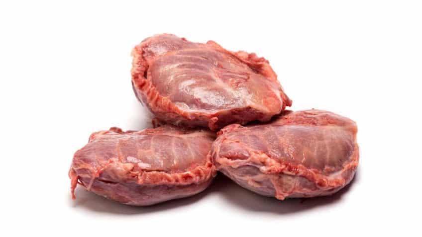 corte carrilleras de cerdo frescas