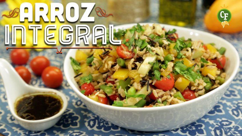 deliciosa ensalada de arroz integral