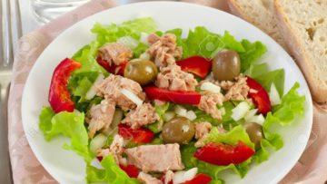 deliciosa ensalada de atún con verduras
