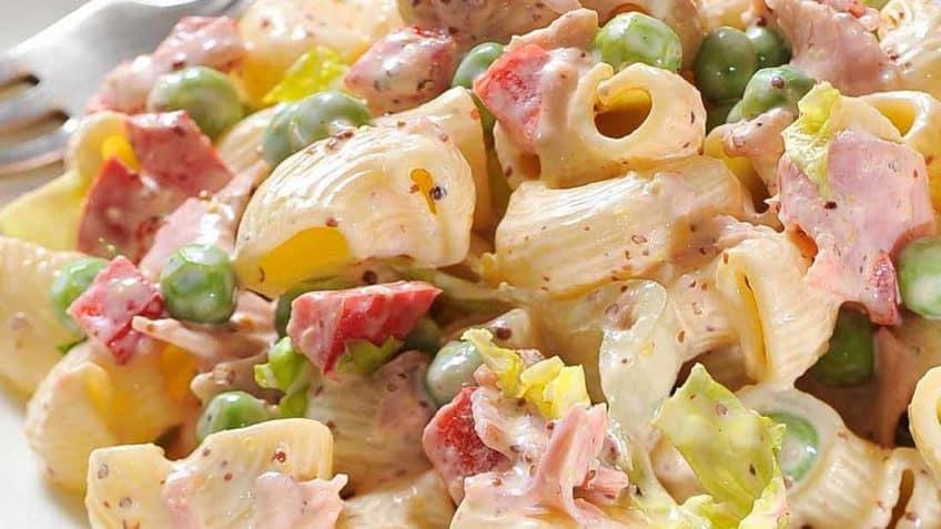 deliciosa ensalada de coditos con pollo