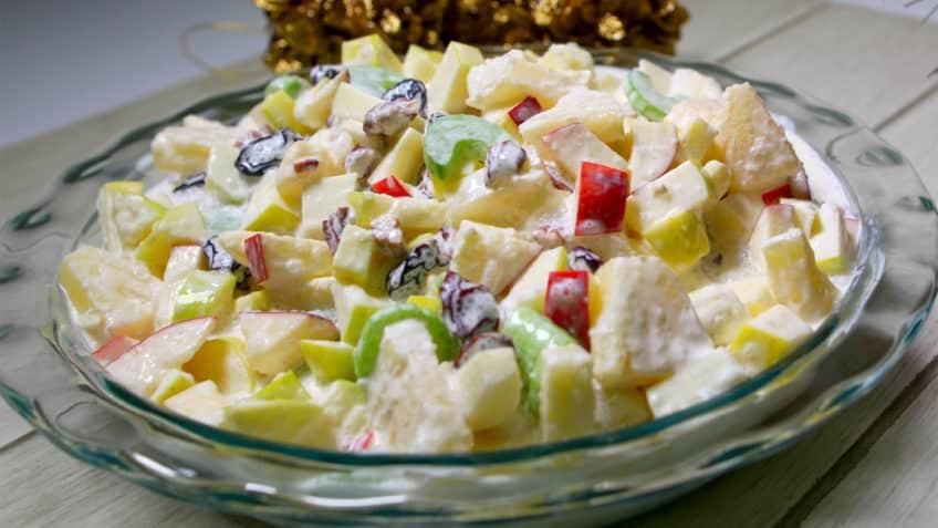 ensaladas de fruta con crema