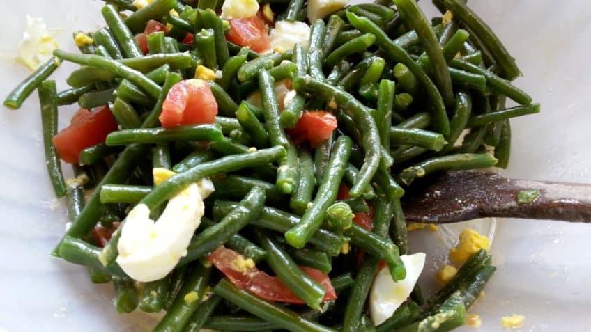 preparar ensalada de judias verdes