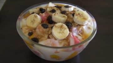 receta de ensalada de frutas con yogurt