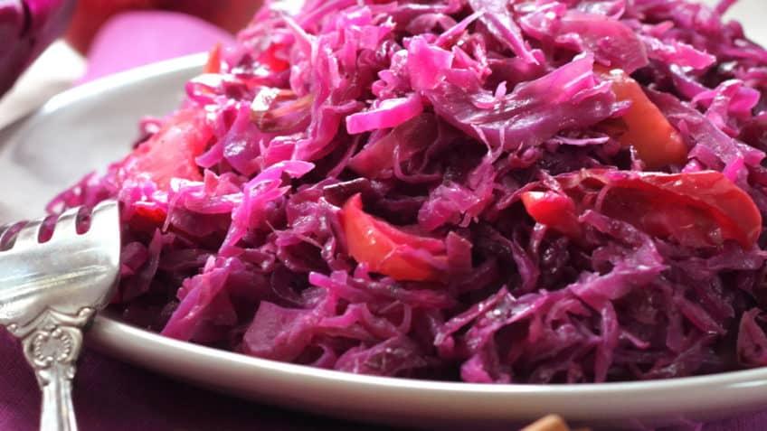 receta fácil de ensalada de col morada