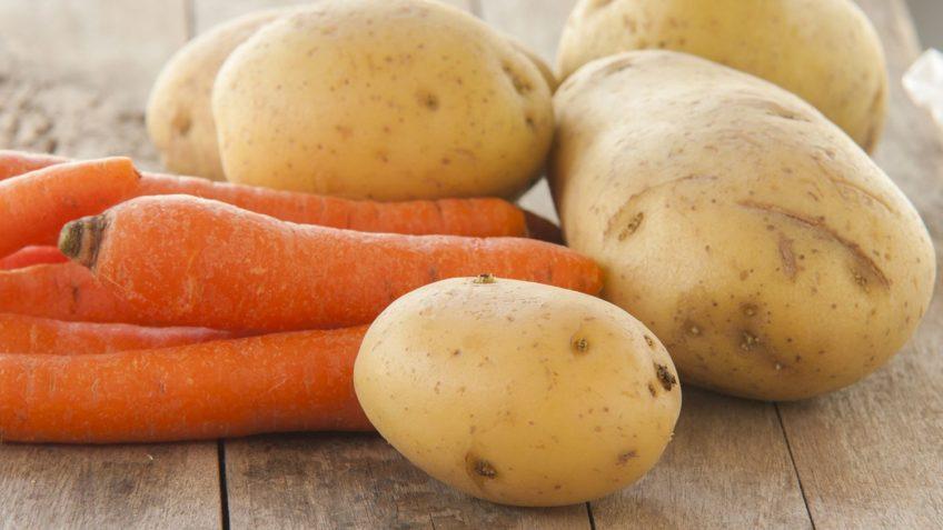 zanahoritas y patatas